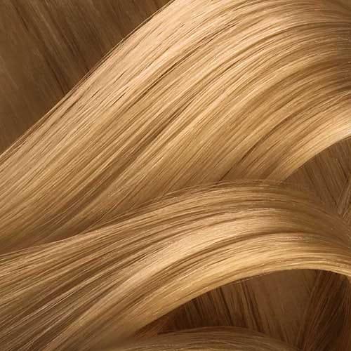 Carta de colores de pelo rubio dorado